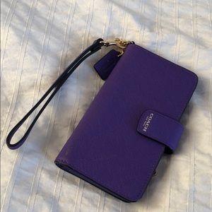 Coach phone wallet case